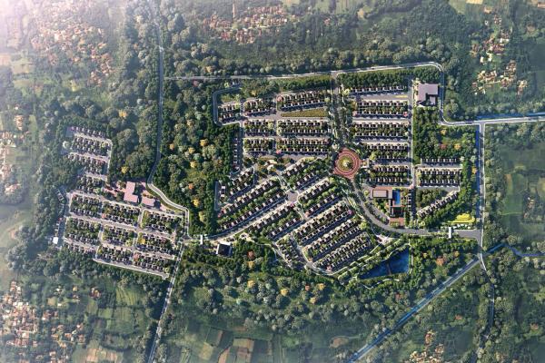 Gambar rencana pembangunan CitraGarden Puri di Jakarta Barat. - Ciputra Reseidence