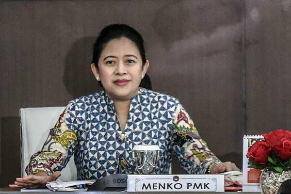 Puan Maharani saat masih menjabat sebagai Menteri Koordinator bidang Pembangunan Manusia dan Kebudayaan (Menko PMK) - ANTARA/Hafidz Mubarak A