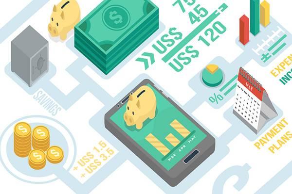 Ilustrasi solusi teknologi finansial - flickr