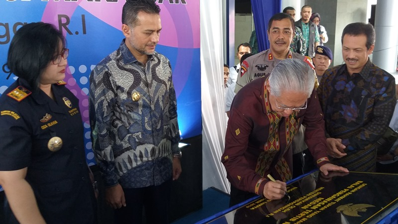 Menteri Perdagangan Enggartiasto Lukita meresmikan Balai Pengawasan Tertib Niaga atau BPTN. - Bisnis/Asteria Desi Kartika