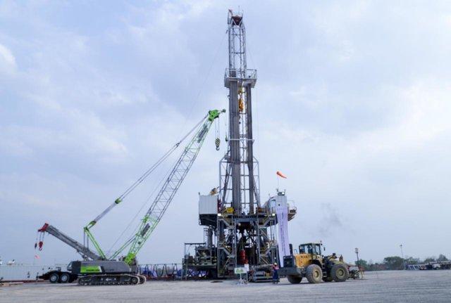 Proses tajak sumur proyek pengembangan lapangan gas unitisasi Jambaran-Tiung Biru, Rabu (9/10/2019). - Istimewa