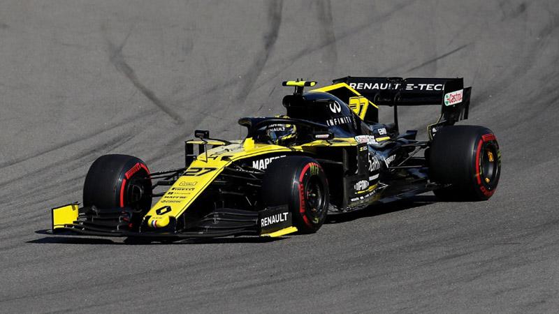 Pembalap Renault Nico Hulkenberg beraksi di GP Rusia di Sochi pada Minggu (29/9/2019). - Reuters/Maxim Shemetov