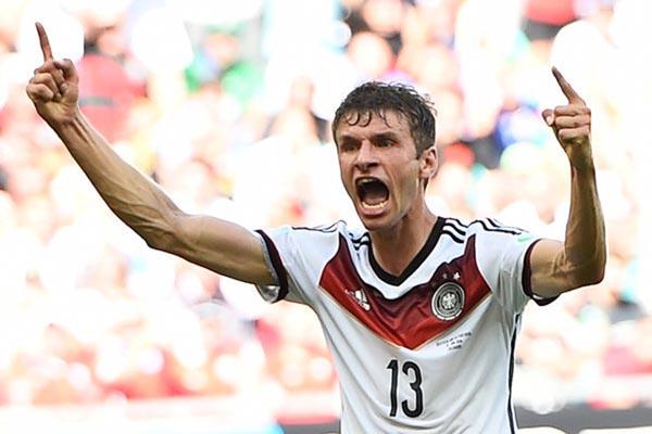 Thomas Muller dalam balutan jersey Timnas Jerman. - Reuters