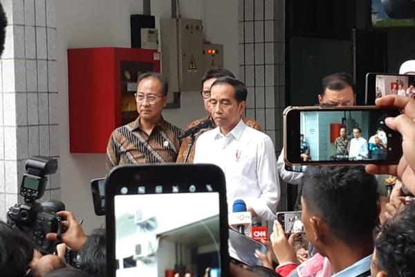 Presiden Joko Widodo di RSPAD Gatot Subroto Jakarta, Kamis (10/10/2019) - Bisnis/Amanda Kusumawardhani