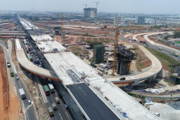 Pembangunan jalan tol Cibitung-Cilincing. - Bisnis