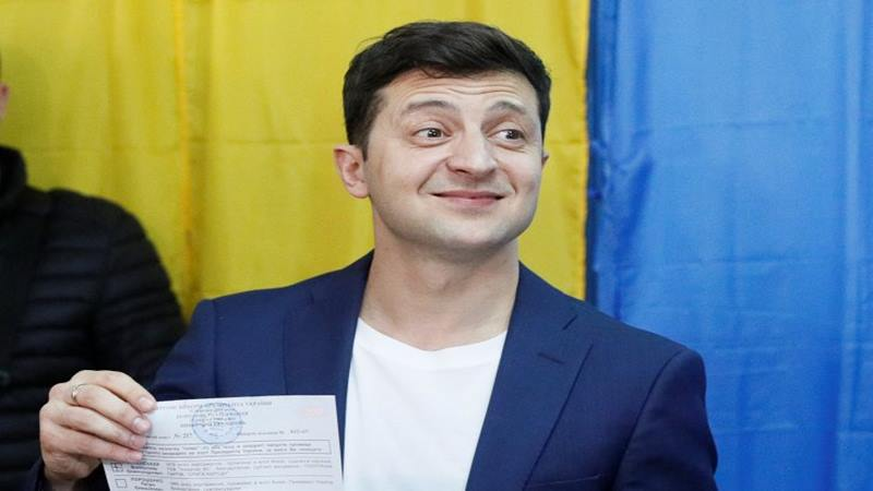 Pelawak Volodymyr Zelenskiy - Reuters