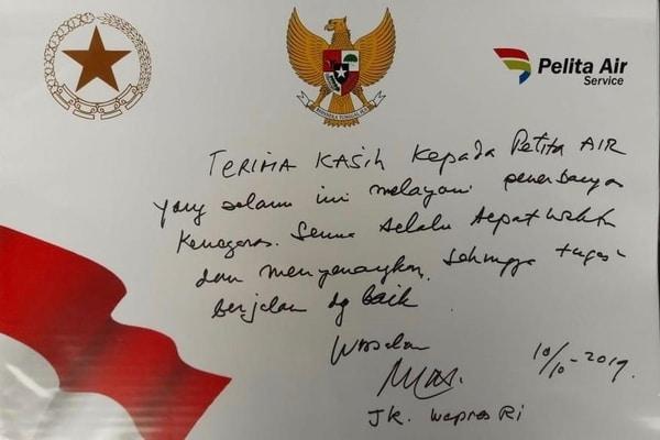 Wapres Jk Tulis Ucapan Terima Kasih Kepada Pelita Air Kabar24 Bisnis Com