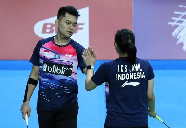 Ganda campuran, Leo Rolly Carnando-Indah Cahya Sari Jamil - Badminton Indonesia