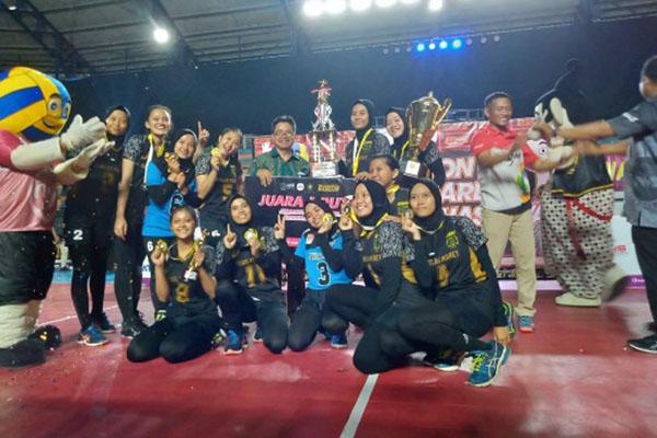 Tim putri UNS Surakarta juara Livoma 2019. - Istimewa