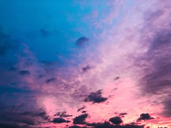 Langit Jepang berwarna ungu saat Topan Hagibis akan datang.Twitter/ara_to1