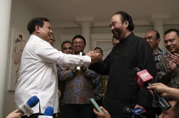 Pertemuan Prabowo-Surya Paloh - Antara
