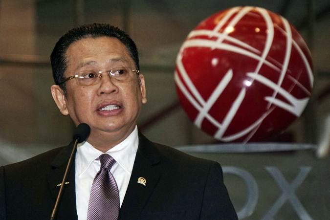 Bambang Soesatyo menjamin amendemen UUD tidak akan menjadi bola liar - Bisnis/Himawan L Nugraha