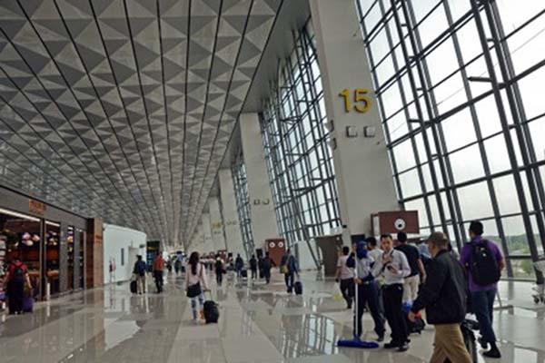 Terminal 3 Bandara Soekarno Hatta di Tangerang, Banten. - Antara/Ahmad Subaidi
