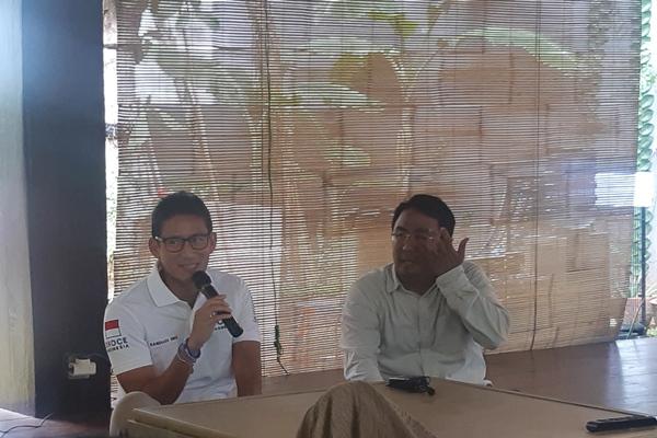 Wakil Ketua Umum Partai Gerindra, Sandiaga Uno - Bisnis/Jaffry Prabu Prakoso