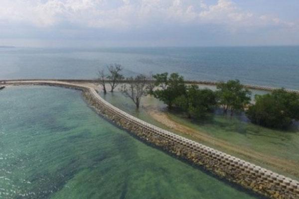 Pulau Putri di Kota Batam, Kepulauan Riau. - Kementerian PUPR