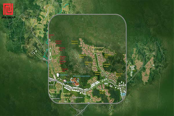 Ilustrasi : Masterplan Jaya Real Property. - jayagroup