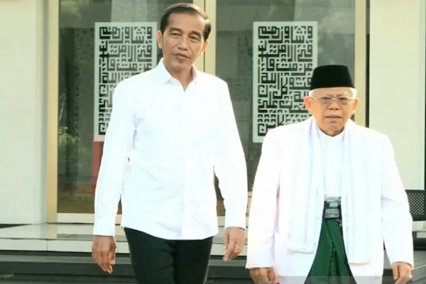 Presiden terpilih Joko Widodo dan Wakil Presiden terpilih Ma'ruf Amin. - Antara