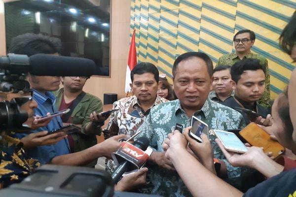 Menristekdikti Mohammad Nasir di Gedung Ristekdikti, Senayan, Jakarta Selatan pada Jumat (18/10/2019) - Bisnis.com - Ria Theresia Situmorang