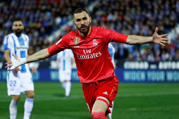 Penyerang Real Madrid Karim Benzema - Reuters/Juan Medina