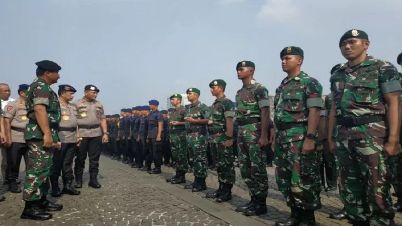 Ilustrasi-Apel gelar pasukan persiapan pengamanan pelantikan Presiden Joko Widodo-Ma'ruf Amin, di Jakarta, Kamis, (17/10/2019). - Antara