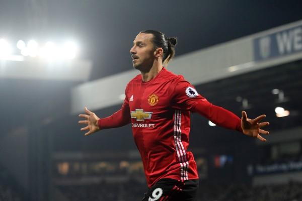 Zlatan Ibrahimovic saat membela Manchester United. - Twitter Premier League