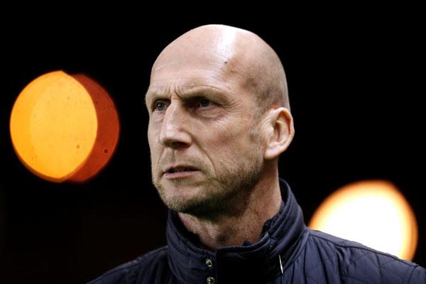 Pelatih Feyenoord Rotterdam Jaap Stam - Reuters/Peter Cziborra