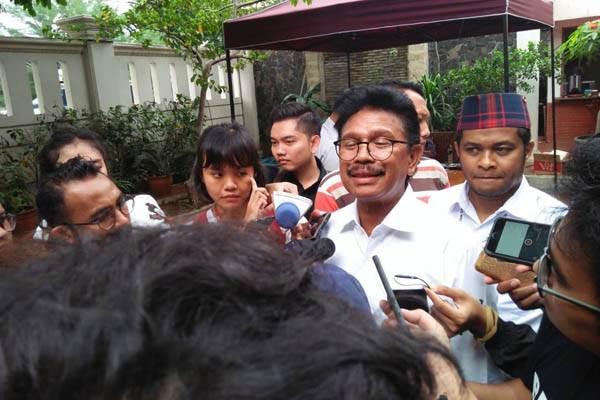 Johnny G. Plate, Wakil Ketua Tim Kampanye Nasional Jokowi-Maruf, saat berada di Rumah Cemara 19, Jakarta, Rabu (19/9/2018). - Bisnis/Muhammad Ridwan