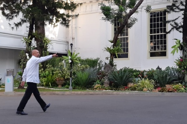 Teten Masduki saat memasuki Kompleks Istana Negara. - Bisnis/Amanda K. Wardhani