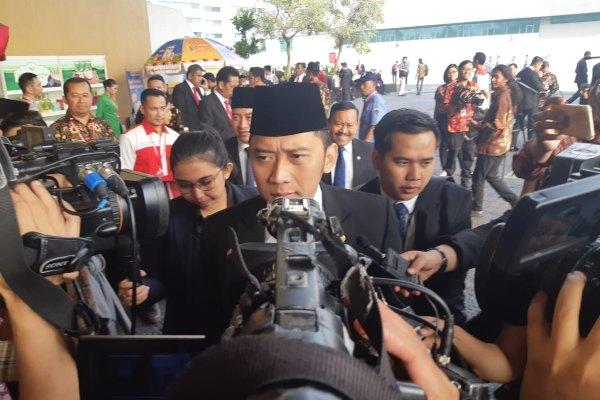 Ketua Departemen Kaderisasi Partai Demokrat Edhie Baskoro Yudhoyono menghadiri Sidang Tahunan MPR RI 2019 di Kompleks Parlemen, Jakarta, Jumat (16/8/2019). - Bisnis/Lalu Rahadian