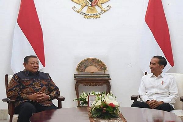 Presiden Joko Widodo saat bertemu dengan Susilo Bambang Yudhoyono, Presiden RI Ke-6. - Instagram @jokowi