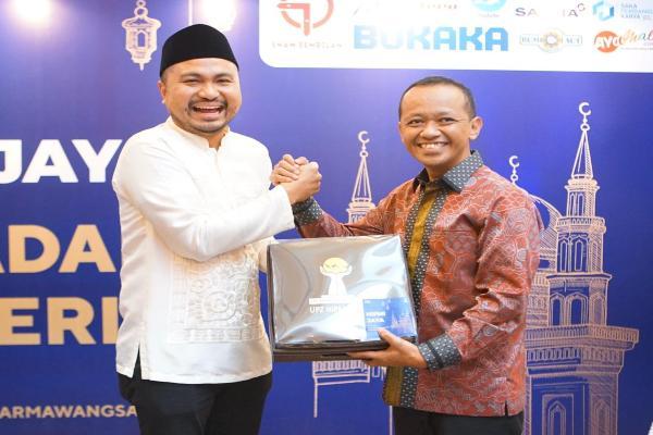Ketua Umum HIPMI Jaya Jaya Afifuddin SuhaelI Kalla dan Kepala BKPM Bahlil Lahadalia. - Istimewa