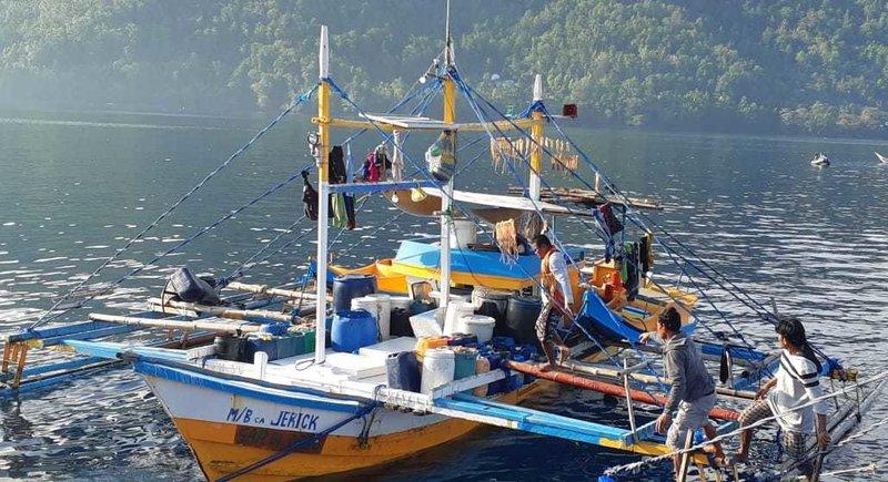 Salah satu kapal yang diamankan Kementerian Kelautan dan Perikanan di Laut Sulawesi. - Dok. KKP