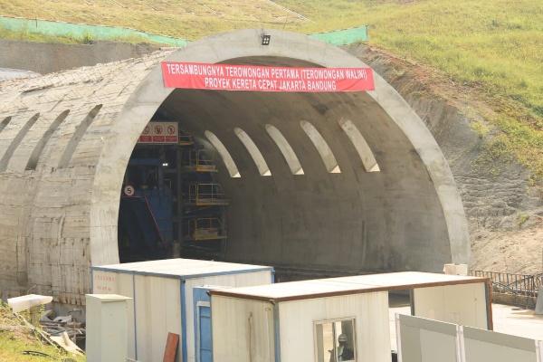 Terowongan Walini proyek kereta cepat KCIC - Istimewa