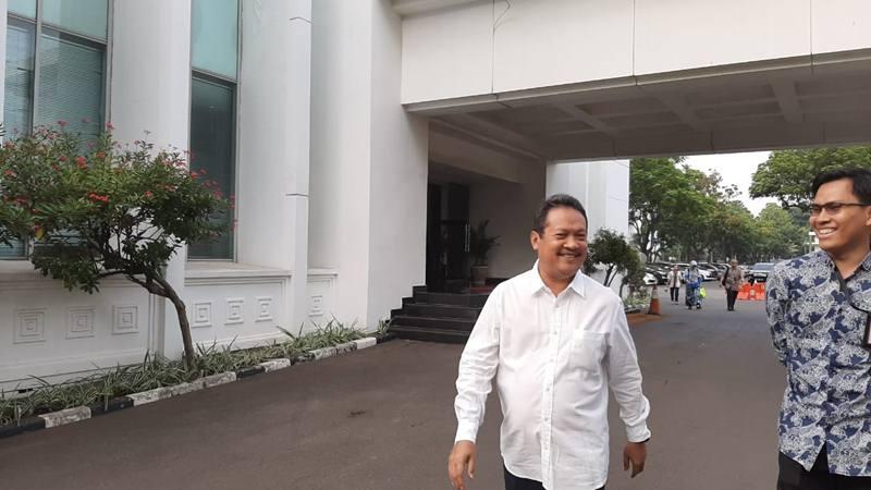 Wahyu Sakti Trenggono di Istana Kepresidenan, Jumat (25/10/2019). JIBI/Bisnis - Yodie Hardiyan