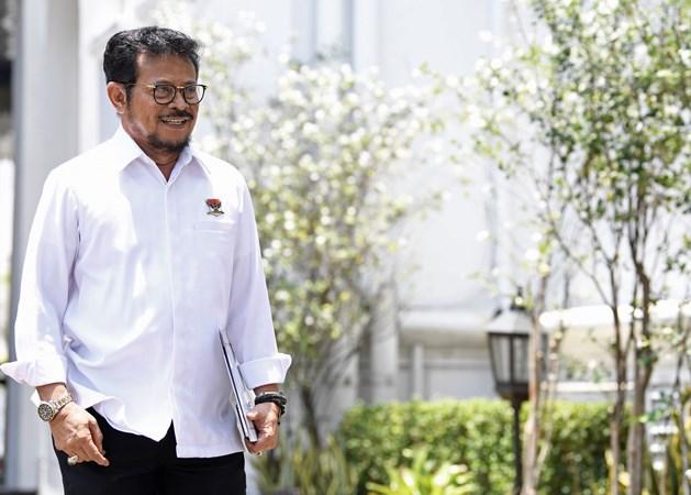 Politisi Partai Nasdem sekaligus Menteri Pertanian Syahrul Yasin Limpo - Antara/Puspa Perwitasari