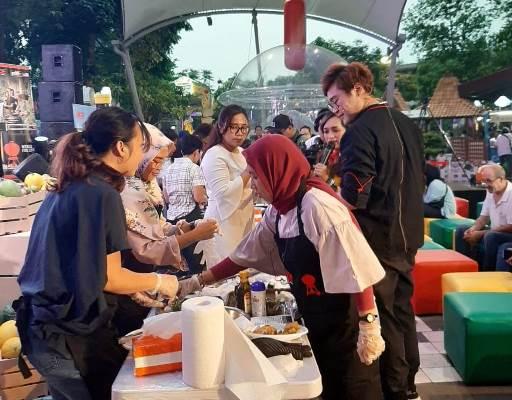 Suasana kompetisi memanggang bersama Chef James Lau - Bisnis/Dewi Andriani
