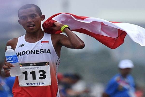 Pelari maraton Indonesia Agus Prayogo - Antara