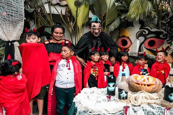 Pesta Halloween di Hotel Tugu tahun lalu. - Istimewa