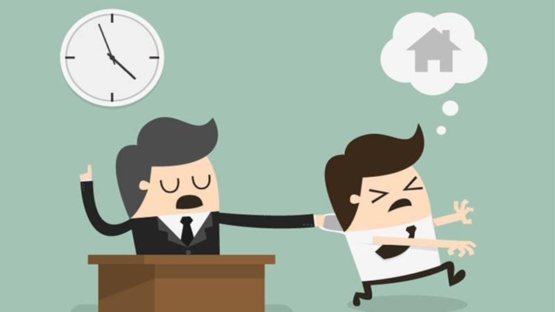 Ilustrasi pekerja sibuk dengan rutinitas pekerjaan sehari-hari. - Istimewa