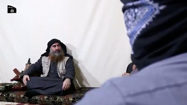 Abu Bakr al-Baghdadi pada 29 April 2019. - Kelompok Negara Islam/Al Furqan Media Network/Reuters