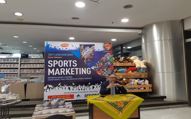Soft Launching buku Sports Marketing dari Hasani Abdulgani di Jakarta, Rabu (30 - 10)