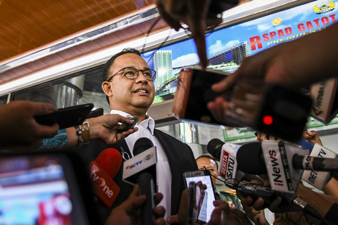 Gubernur DKI Jakarta Anies Baswedan. - Antara/Galih Pradipta