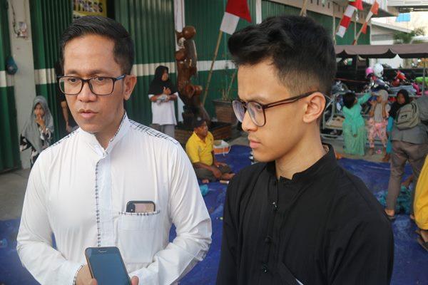 Ketua APINDO Kalsel H Supriadi (kiri)