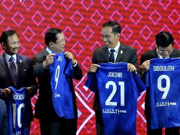 Presiden Joko Widodo dalam acara penandatanganan MoU antara Asean dan FIFA di Bangkok, Thailand, Sabtu (2/11/2019). - Repro Instagram