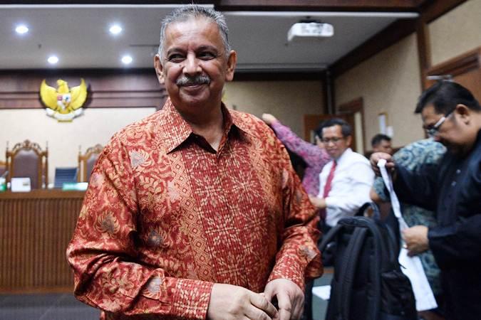 Mantn Dirut PLN Sofyan Basir divonis bebas dalam kasus suap proyek PLTU Riau-1 di Pengadilan Tipikor. - ANTARA/Sigid Kurniawan