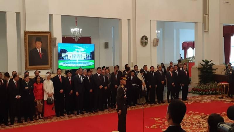 Pelantikan Komisaris Jenderal Idham Azis sebagai Kapolri di Istana Negara, Jumat (1/11/2019). JIBI/Bisnis - Amanda Kusumawardhani