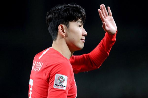Pemain andalan Timnas Korea Selatan Son Heung-min. - Reuters/Suhaib Salem