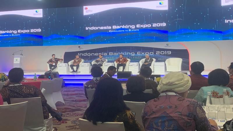 Diskusi terkait arah industri perbankan Indonesia lima tahun ke depan pada acara Indonesia Banking Expo 2019, Jakarta, Rabu (6/11/2019). - Bisnis/Lalu Hardian
