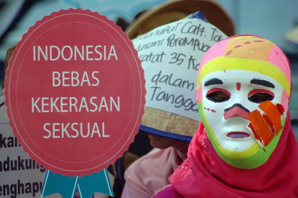 Aktivis berunjuk rasa di Hari Perempuan Internasional. - Antara/Iggoy el Fitra