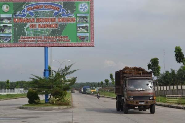 KEK Sei Mangkei di Simalungun, Sumatra Utara. - Antara/Muhammad Syafii